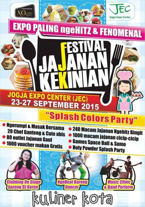 Festival Jajanan Kekinian Jogja 23-27 September 2015
